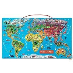 Magnetic world map travel products pinterest magnetic world map gumiabroncs Choice Image
