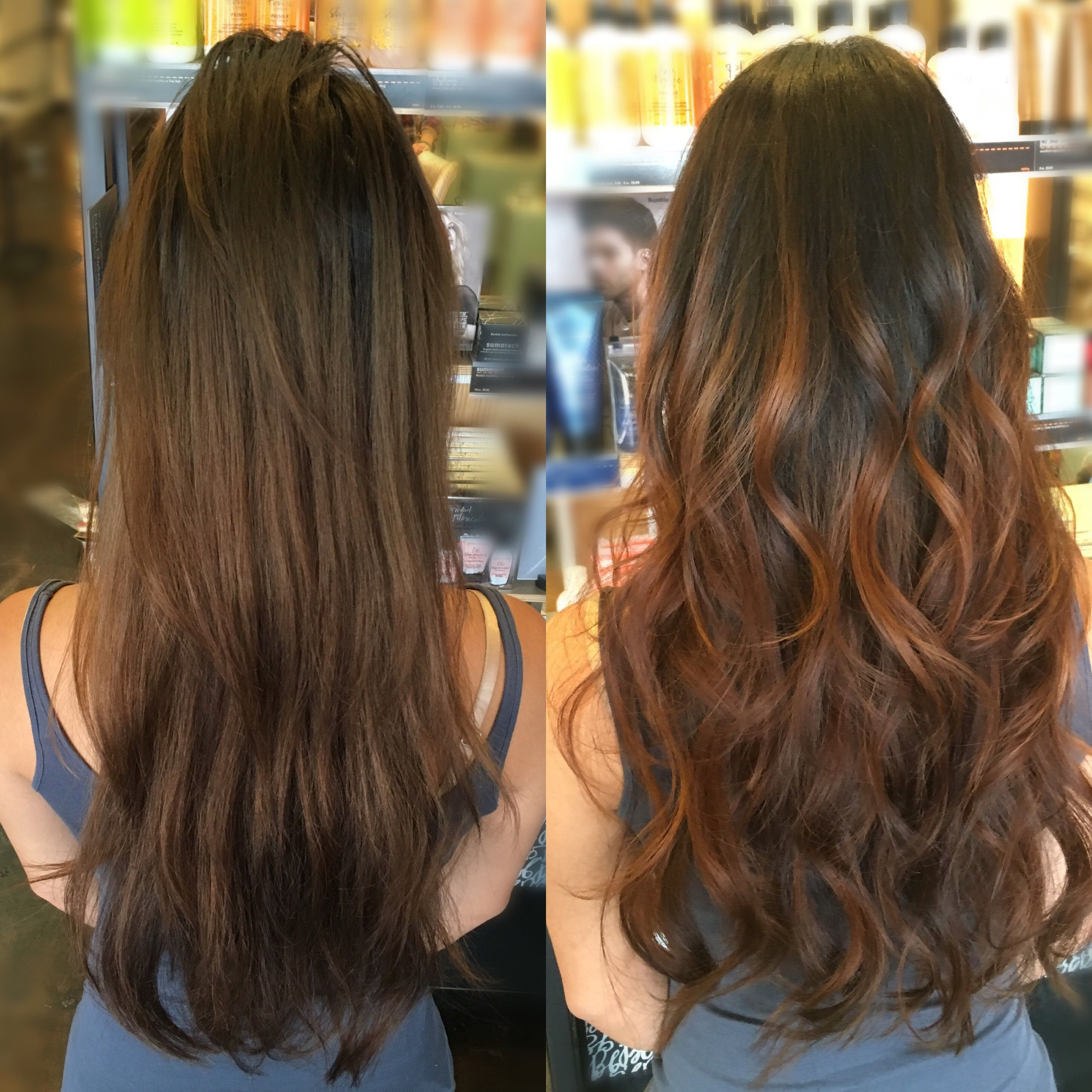 Hair Painting Before And After Cabelos Ombre Cabelo Ombre