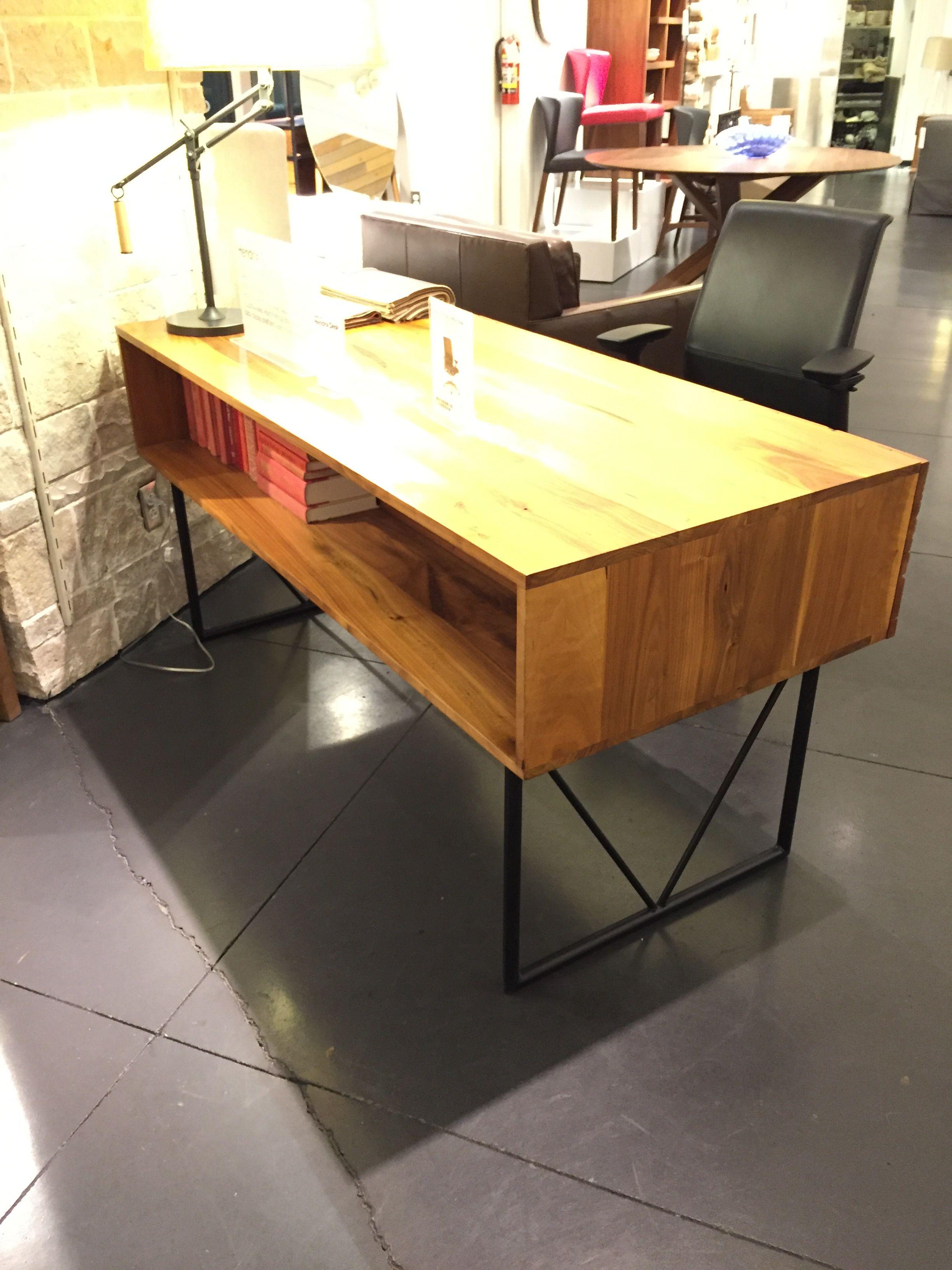 1600 Crate Barrel Hendrix Desk Drawers Front Shelf Back 63w X 28 3 4d X 30 1 2h Desk With Drawers Desk Drawer Fronts