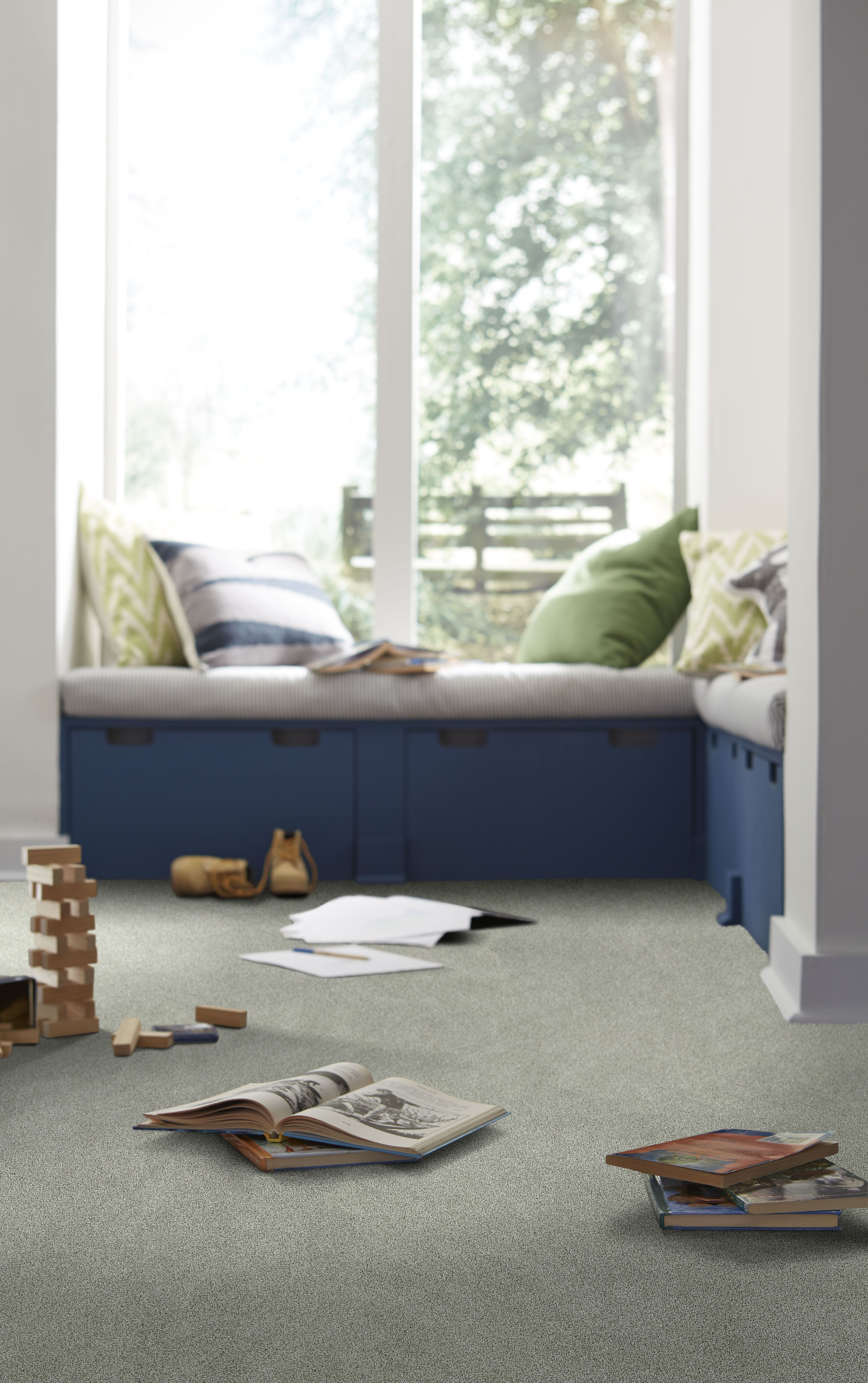 Bright Blues And Greens Are Perfect For The Kids Room,
