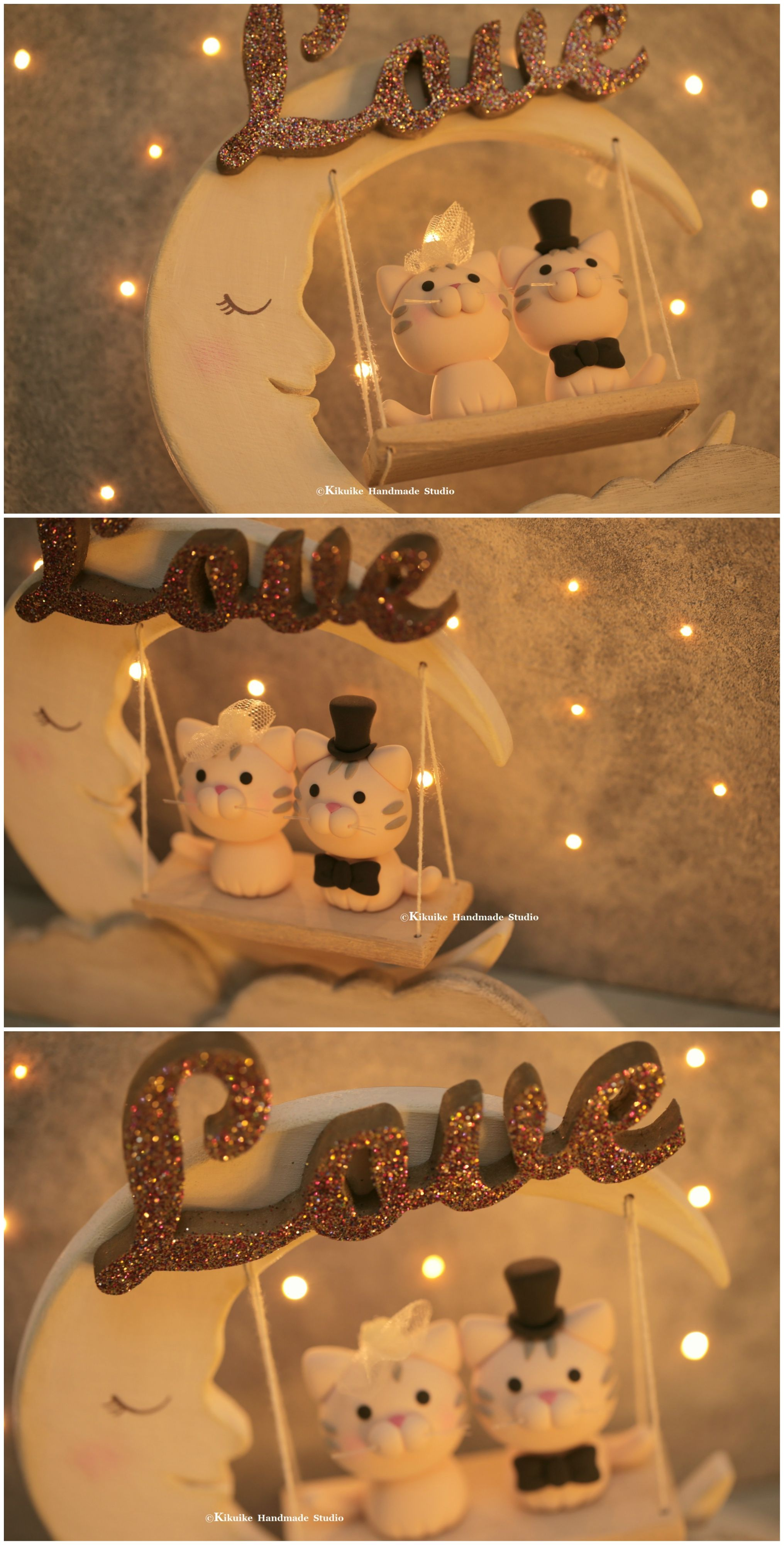 cat and kitty Wedding Cake Topperk862 Wedding cake