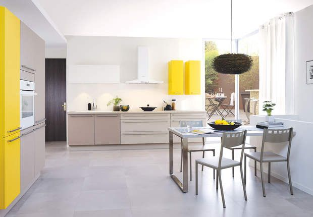 Meubles De Cuisine En Couleur Kitchen Decor Kitchen Remodel