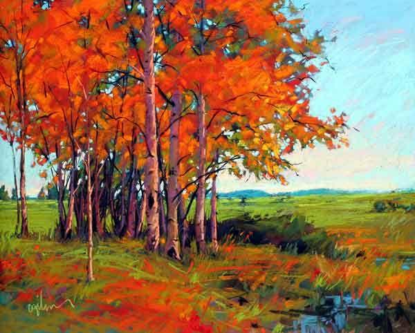 Aspens By Susan Ogilvie Pastel Landscape Landscape Art Aspen Art