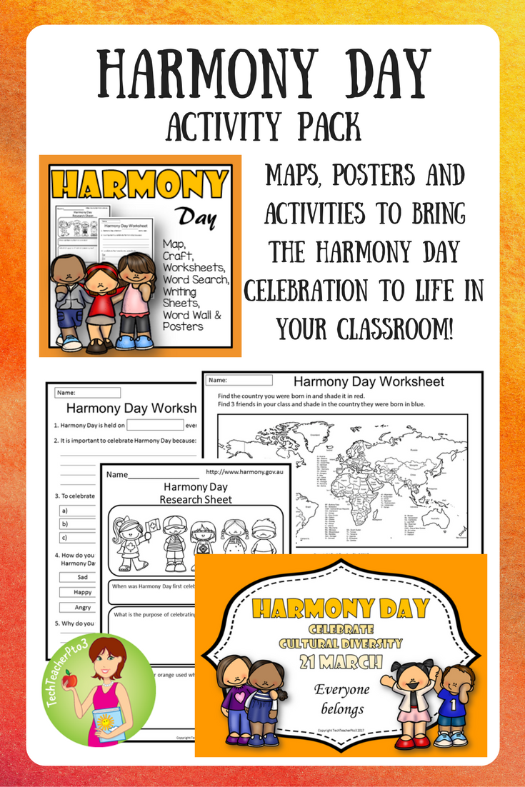 Worksheets Diversity Worksheets harmony day activities cultural diversity classroom wall display and march with plenty of hands on vocabulary work posters maps more explore this cel
