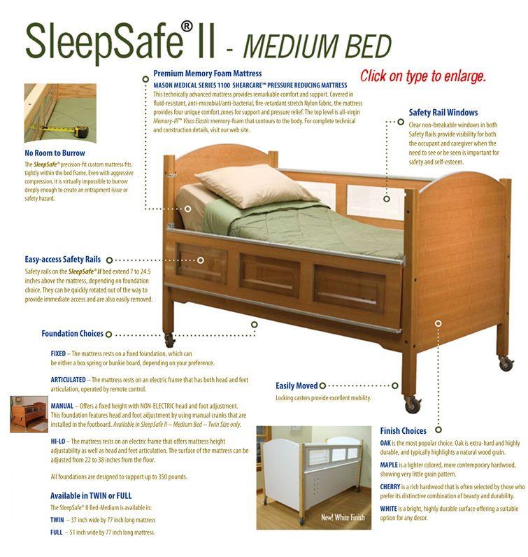 Sleepsafe Beds The Safety Bed Sleepsafe Ii Medium Bed