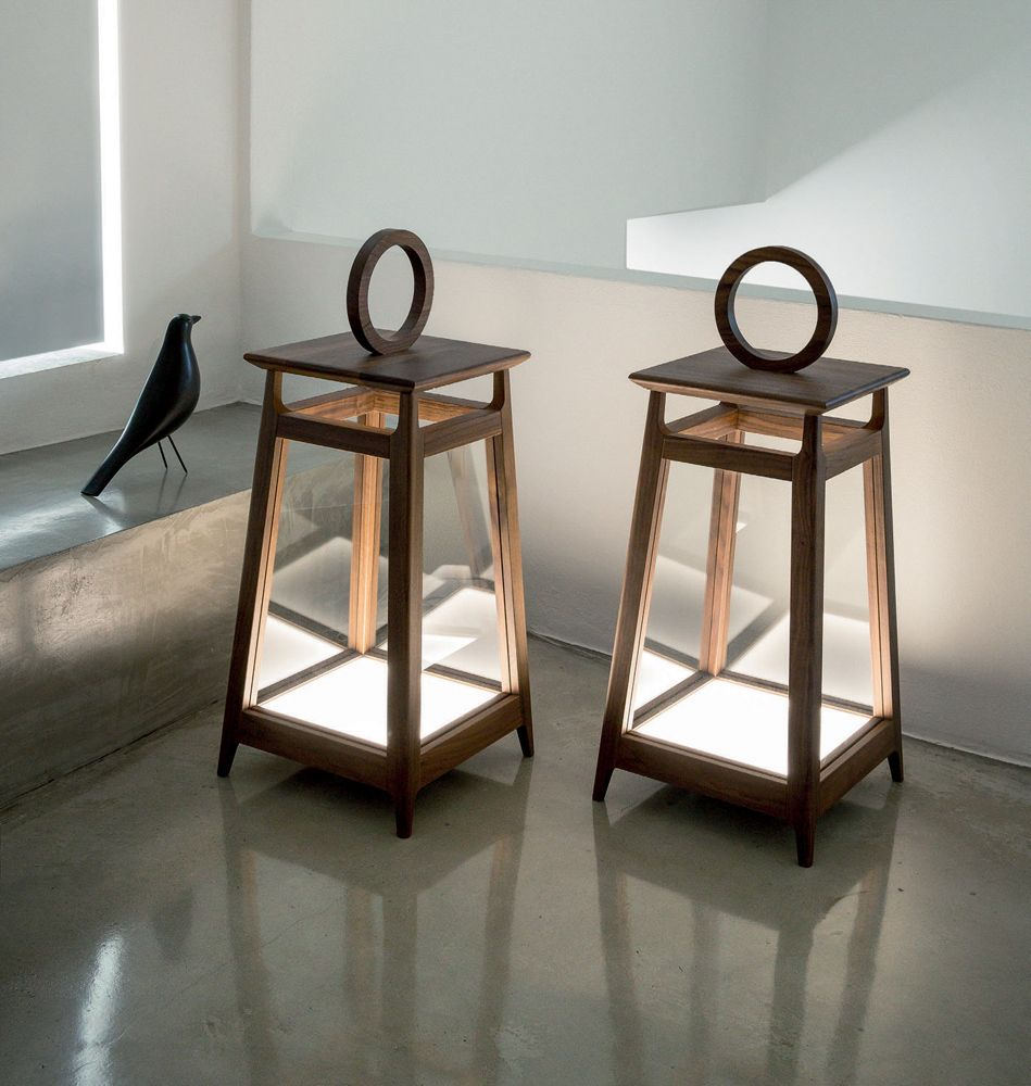 amacord floor lamps, transitional living room design at cassoni