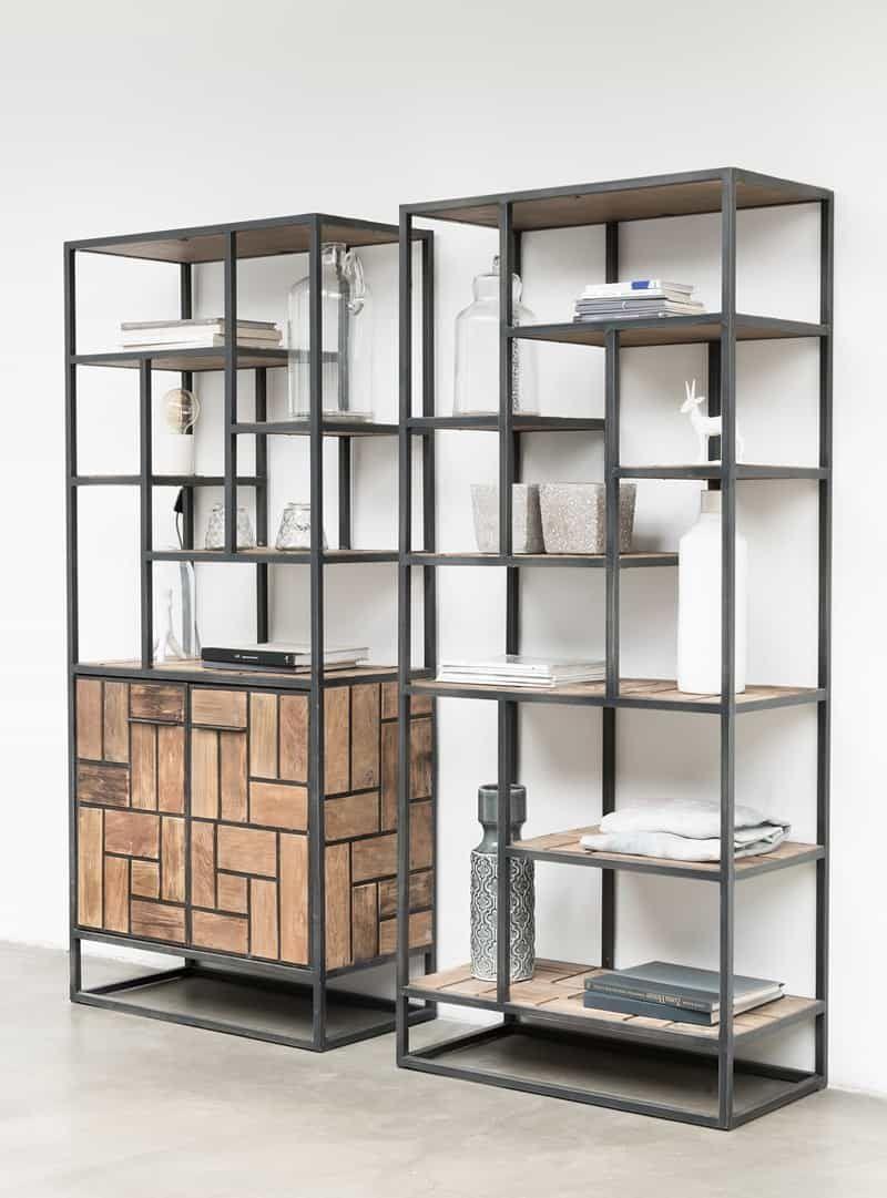 Boekenkast Mondrian Kasten Living Boekenkasten Metalen