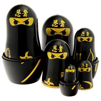 Ninja Nesting Dolls - so cool Generally Awesome Pinterest