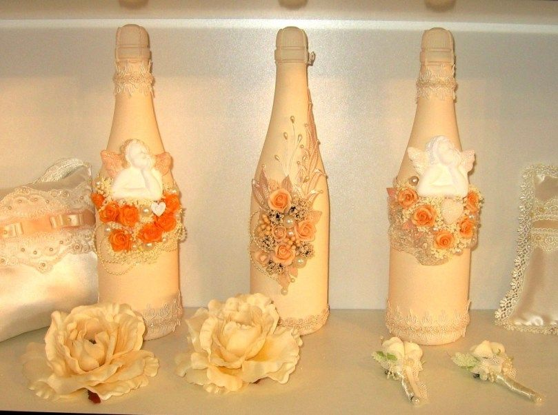 Champagne Bottle Decorations For Weddings Many Ideas
