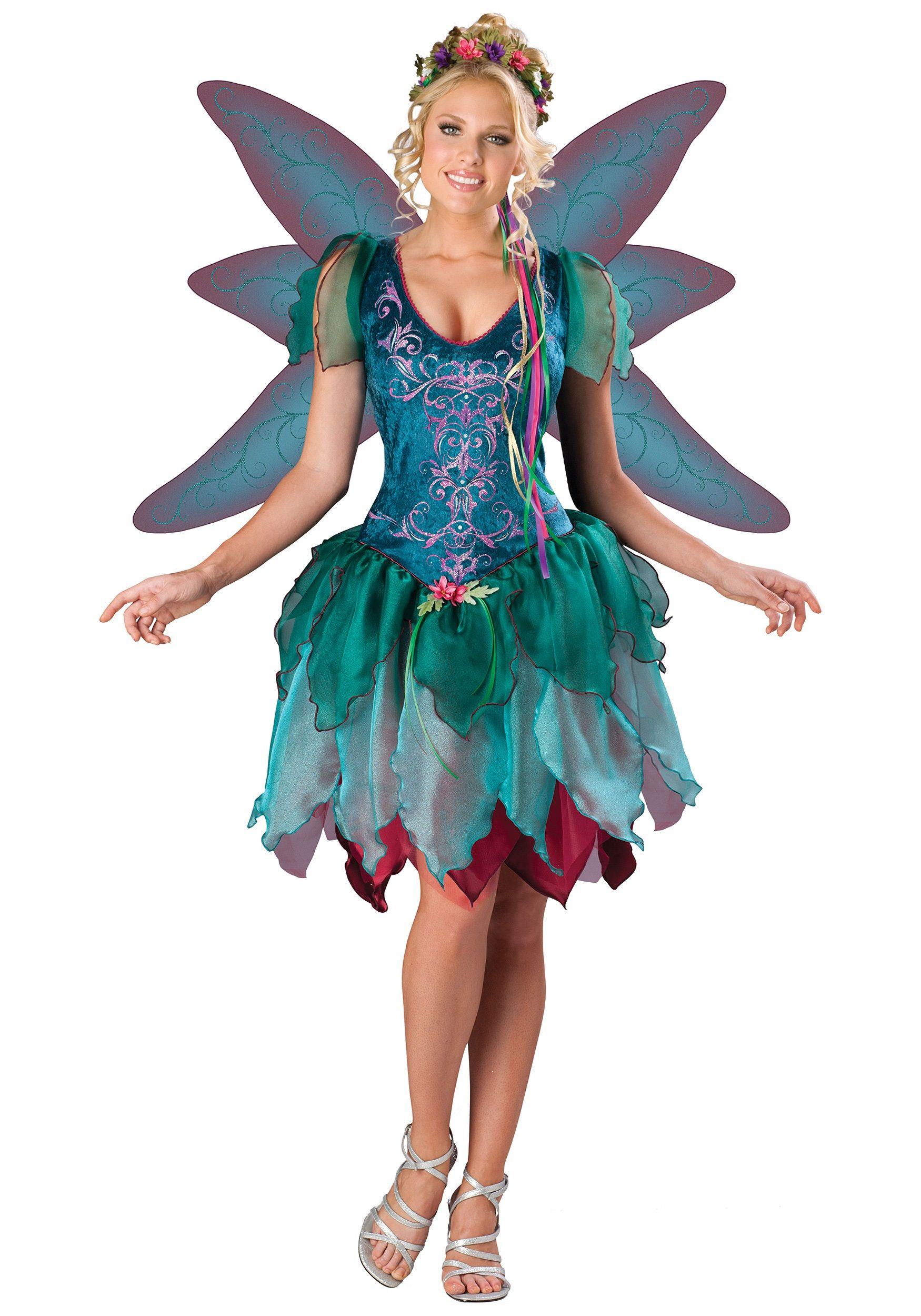 with leggings this looks great Adult fairy costume