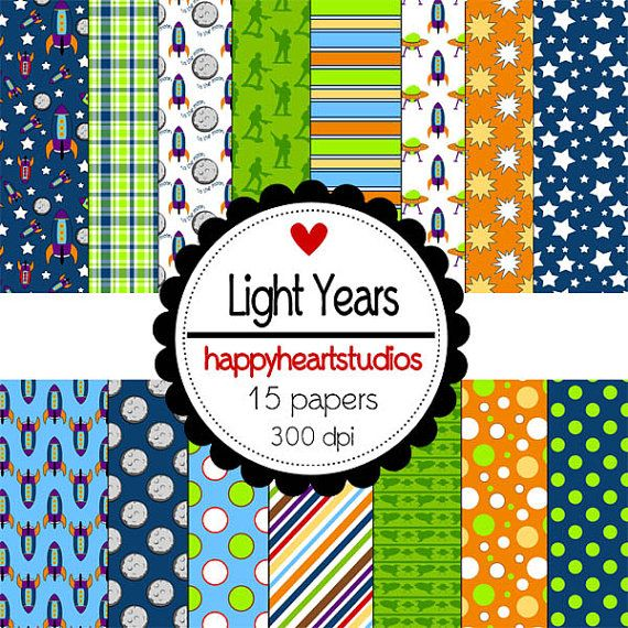 Digital Scrapbook Lightyears By Azredhead On Etsy 150 Festas