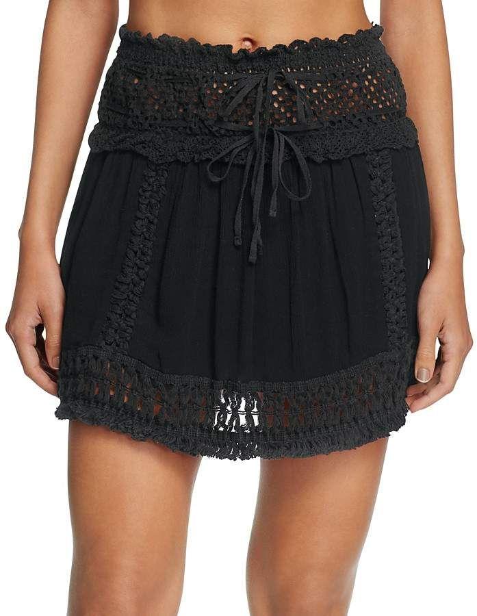 d4798f2479 Surf Gypsy Crochet Fringe Mini Skirt Swim Cover-Up | gypsy style ...