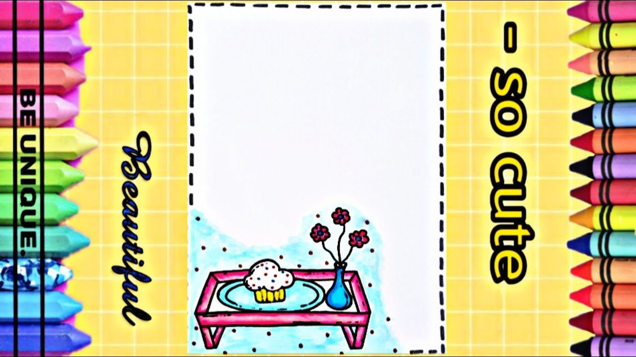 Drawing To Decorate Notebook Tray تعليم الرسم تزيين دفاتر مدرسية Cute Notebook Unique