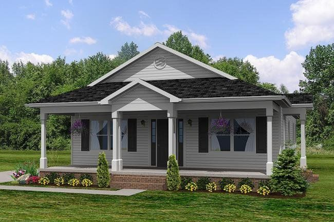 Ranch with front porch house plans House plan