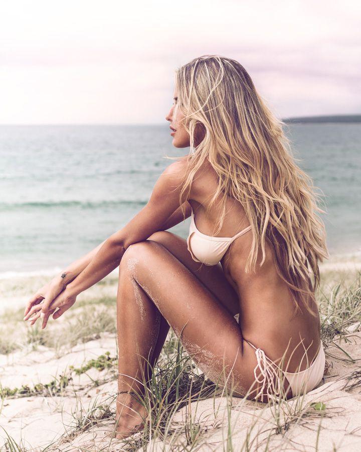 Naked Beach Blonde