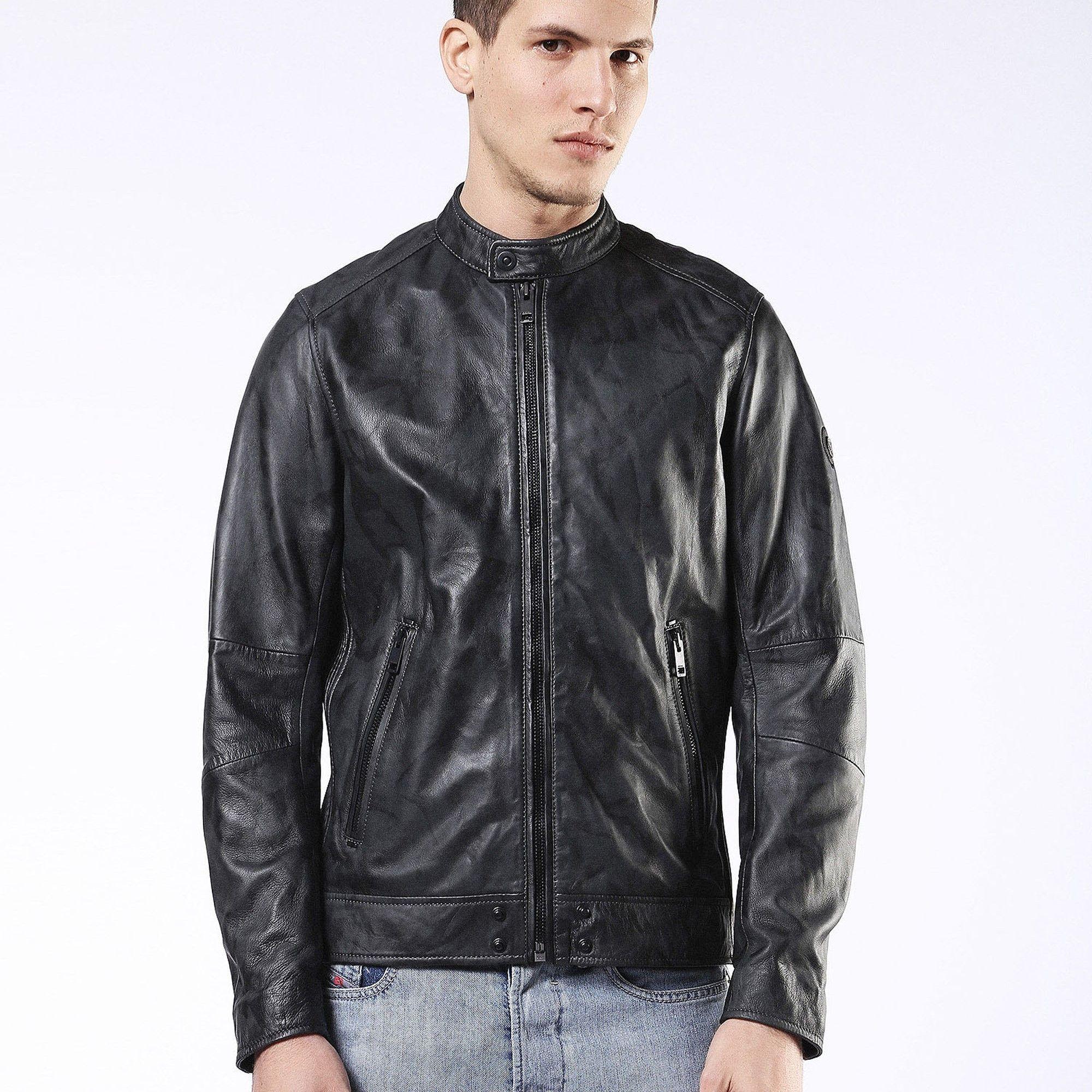 Diesel Bomber jacket, Leather jacket, Fashion