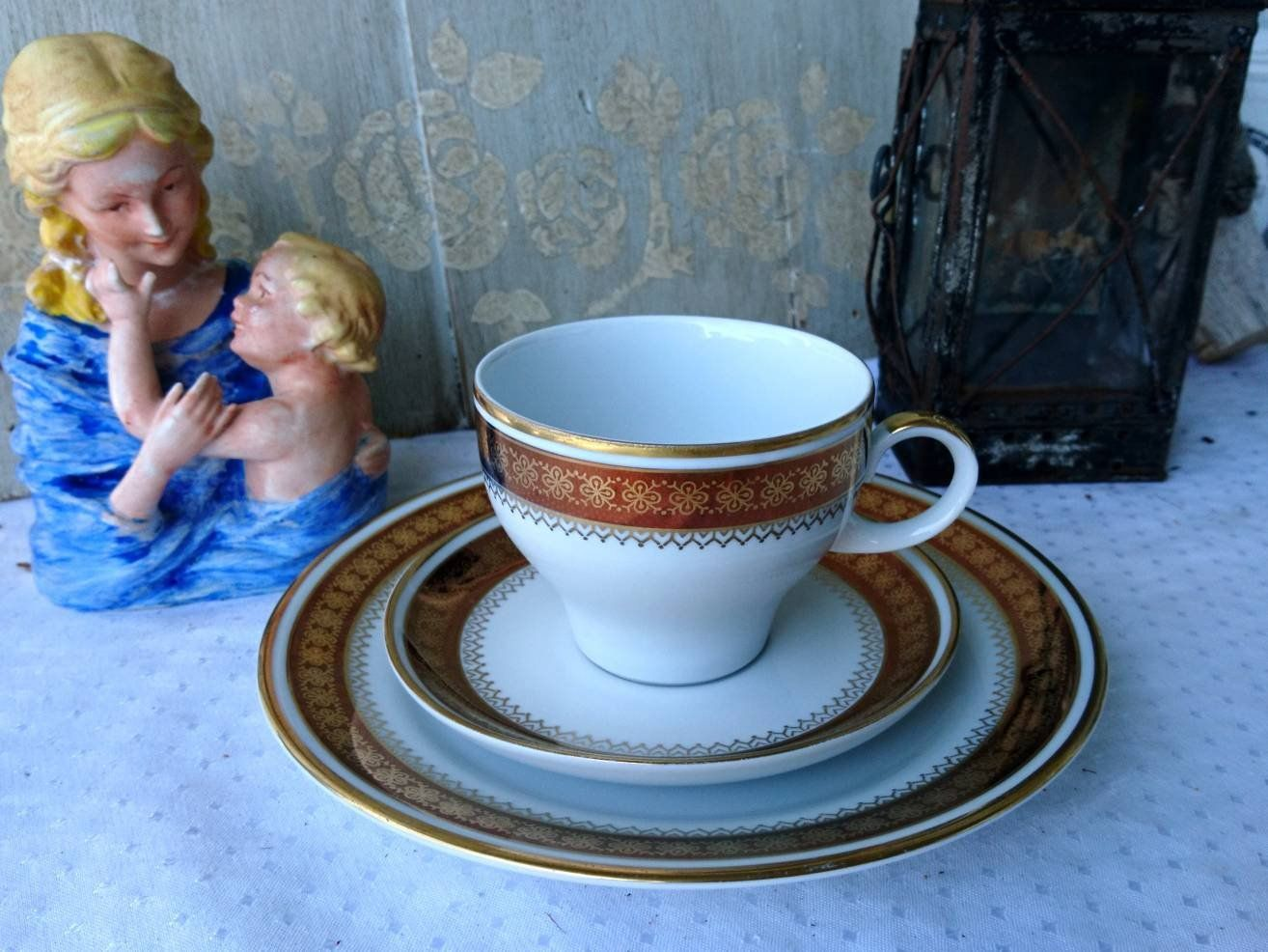 Kahla Porcelain Collection Deck Cup Saucer Cake Plate Shabby Chic