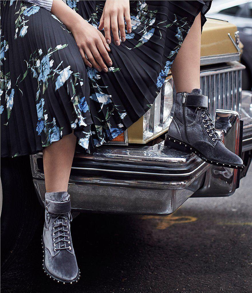 Vince Camuto Women's Talorini Velvet Lace Up Booties hScUw