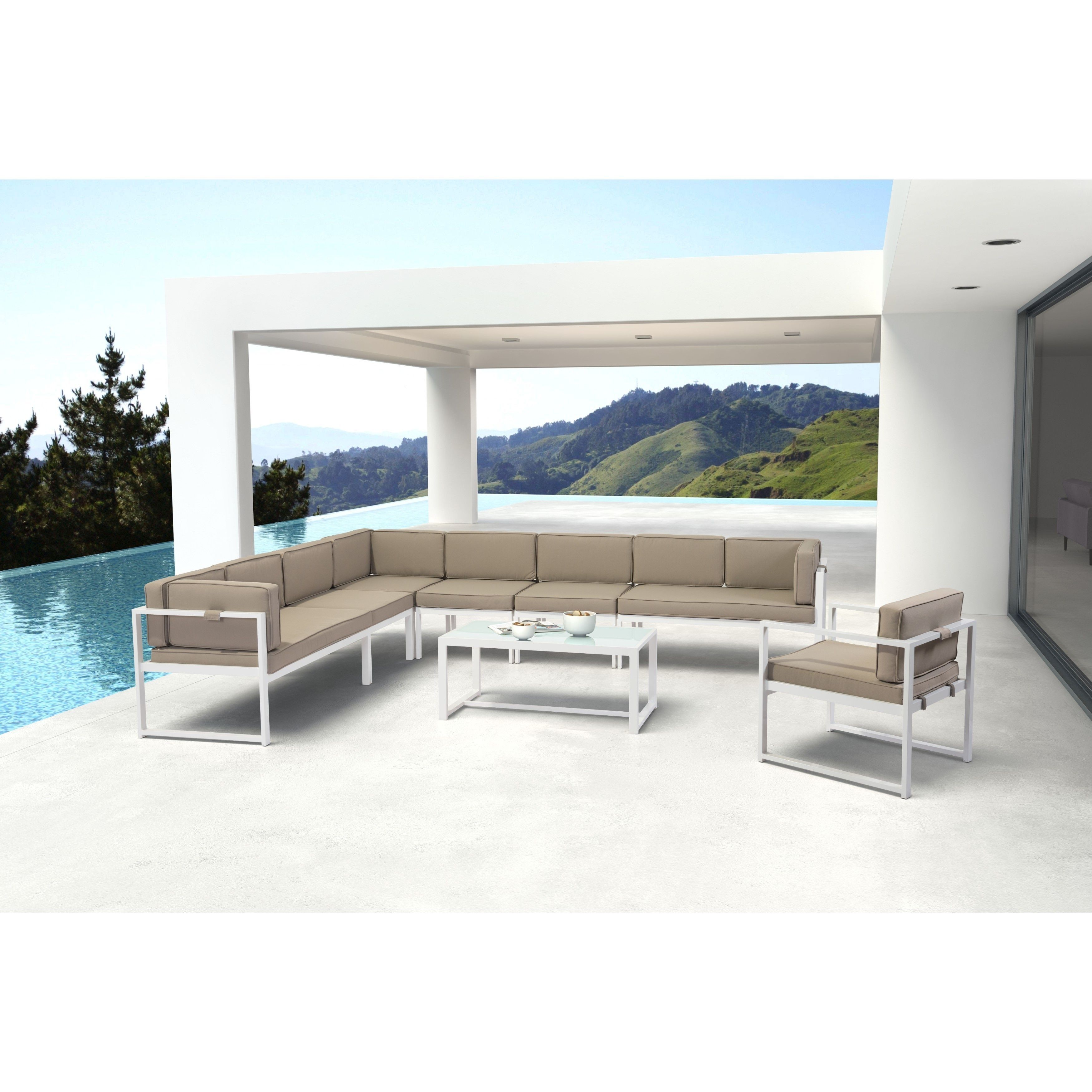 Best Online Furniture Stores Affordable: Zuo Golden Beach White Coffee Table (Golden Beach Coffee