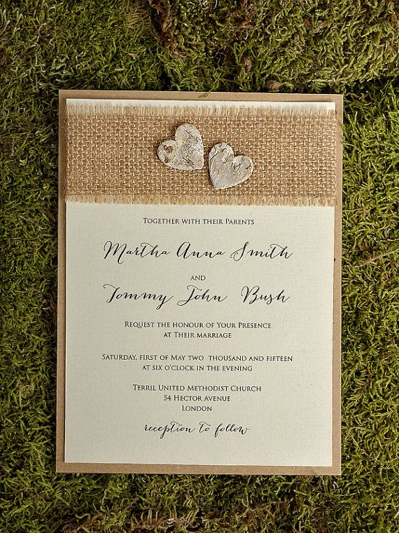 Rustic Style Wedding Invitations