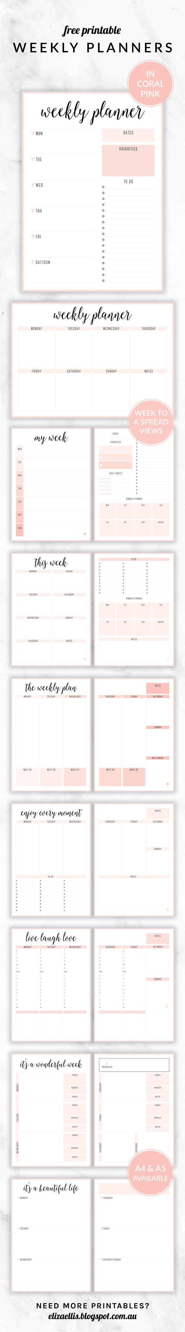 Free Printable Irma Daily Plannersyou May Also Like  Organizing