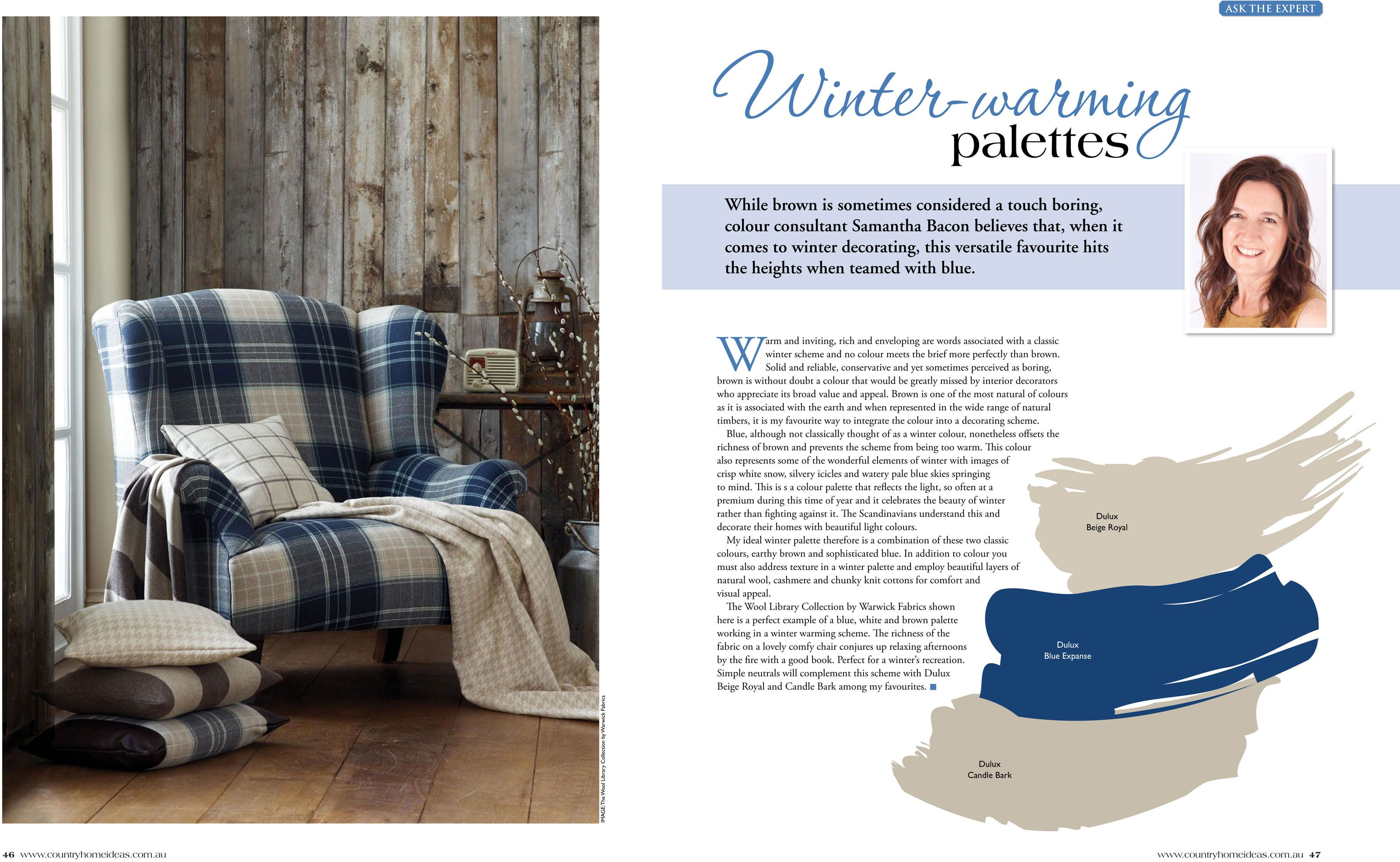Country Home Ideas - Winter Warming Palettes | Ideas magazine, Cosy ...