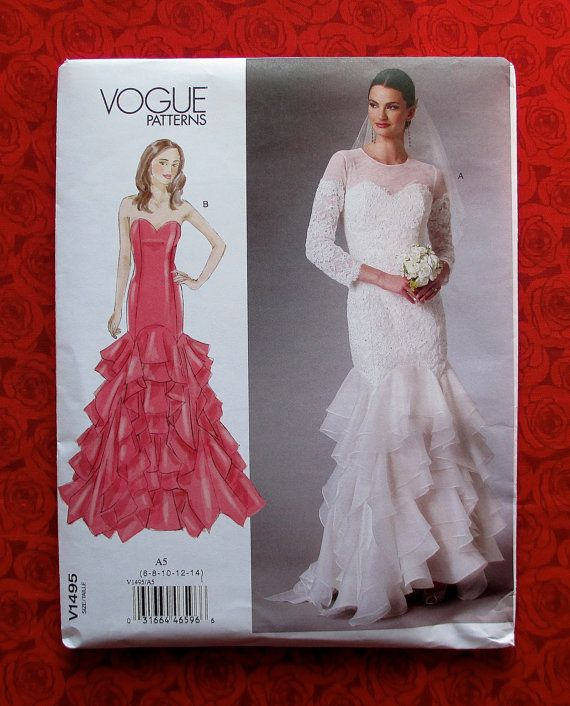 Vogue Sewing Pattern V1495 Bridal Gown by AlicesSewingCorner ...