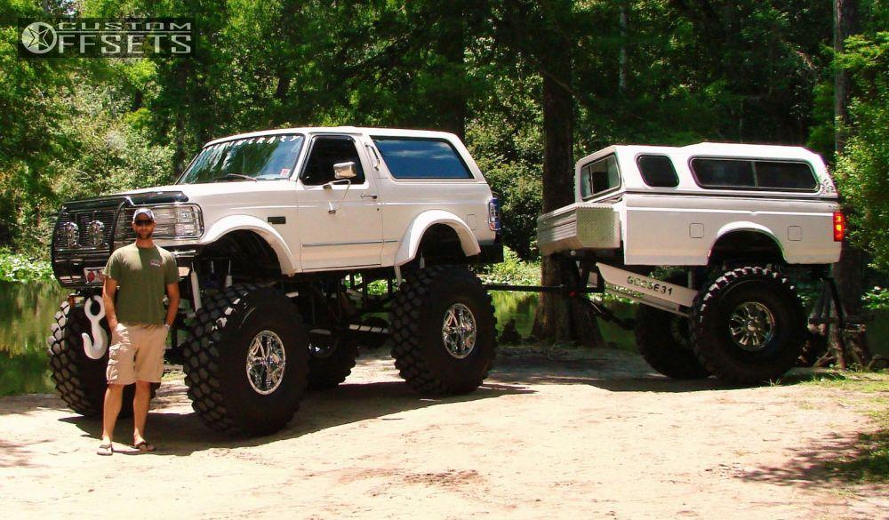 12 1996 Bronco Ford Lifted 9 Fuel Hostage Chrome Super Aggressive 3 5 Ford Bronco Trucks Ford Trucks