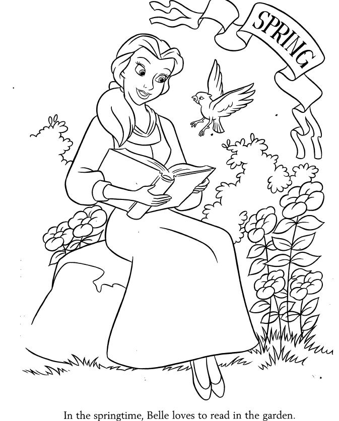Beauty And The Beast Novel Pdf: Belle Colouring Sheets