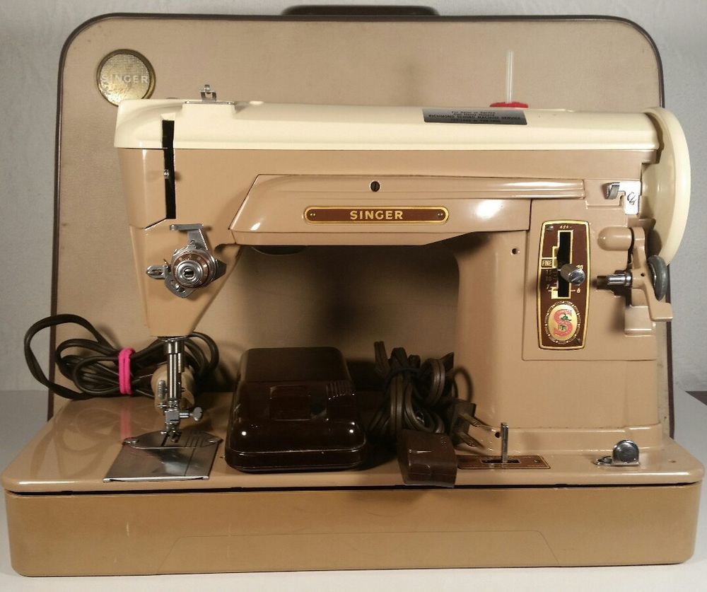 Details about Vintage Singer Sewing Machine with Foot Switch