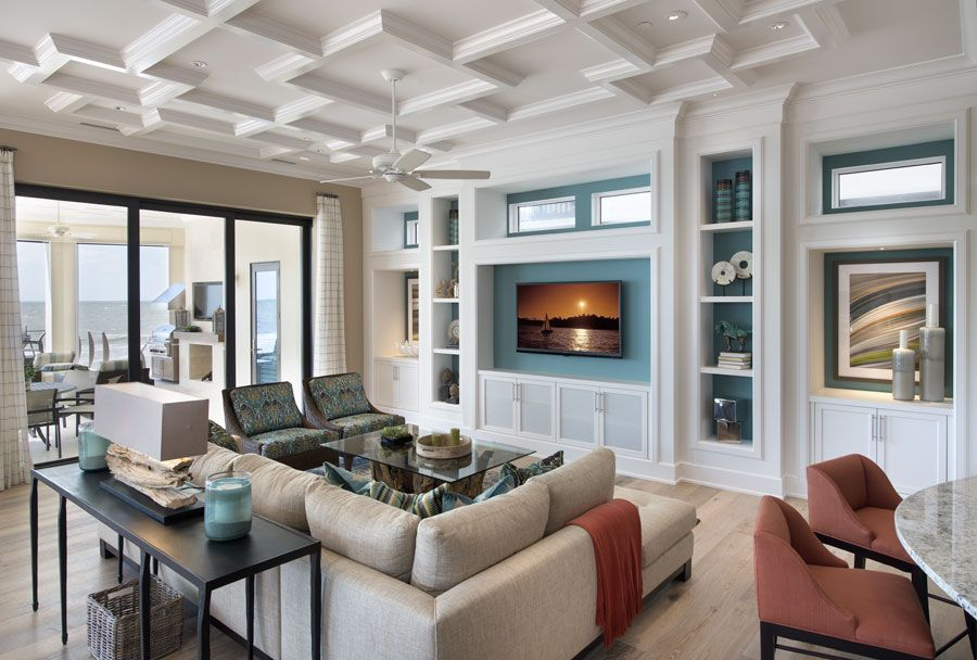 Coastal Family Room Free Style Interiors Bonita Springs
