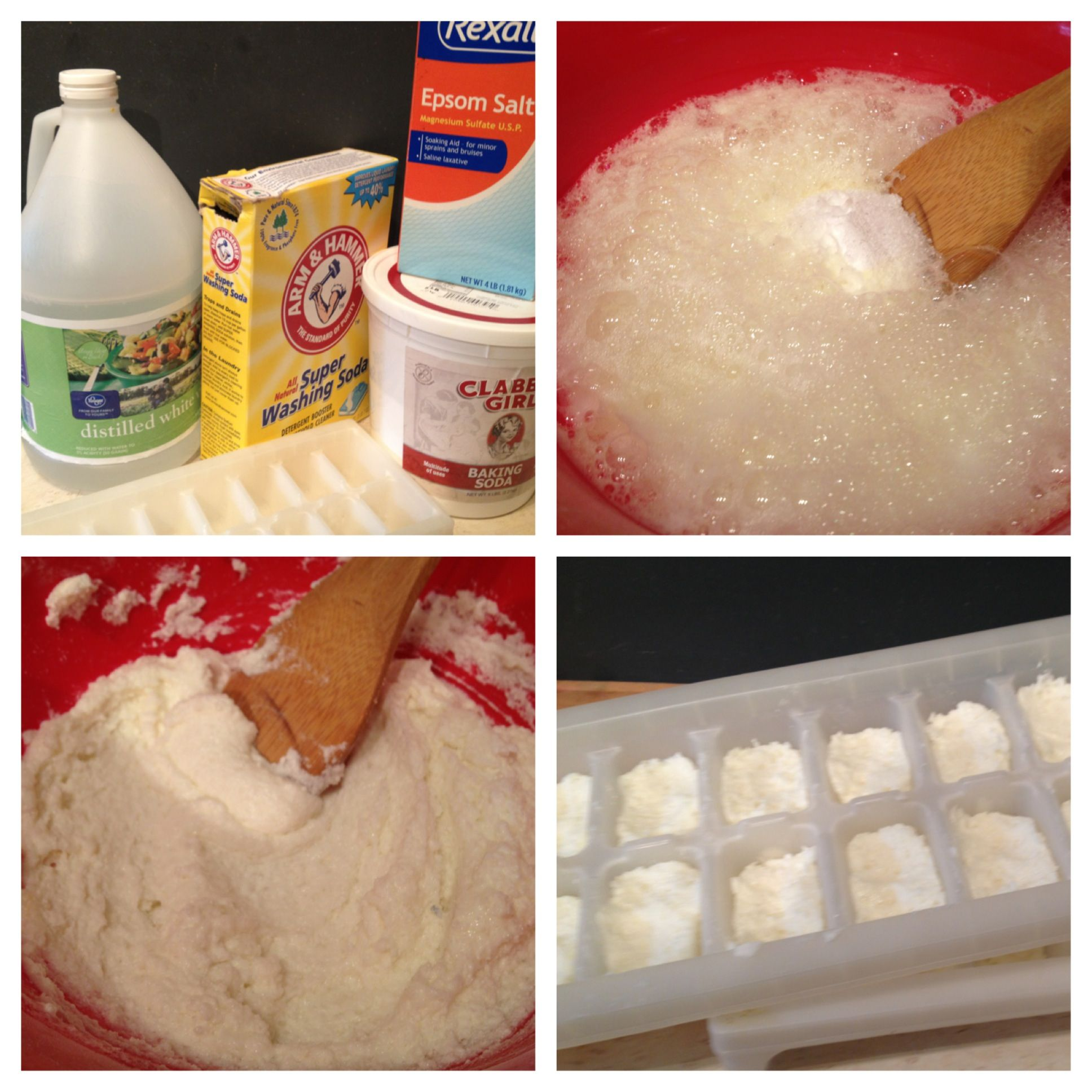 1 Cup Each Baking Soda, Epsom Salt, Arm And