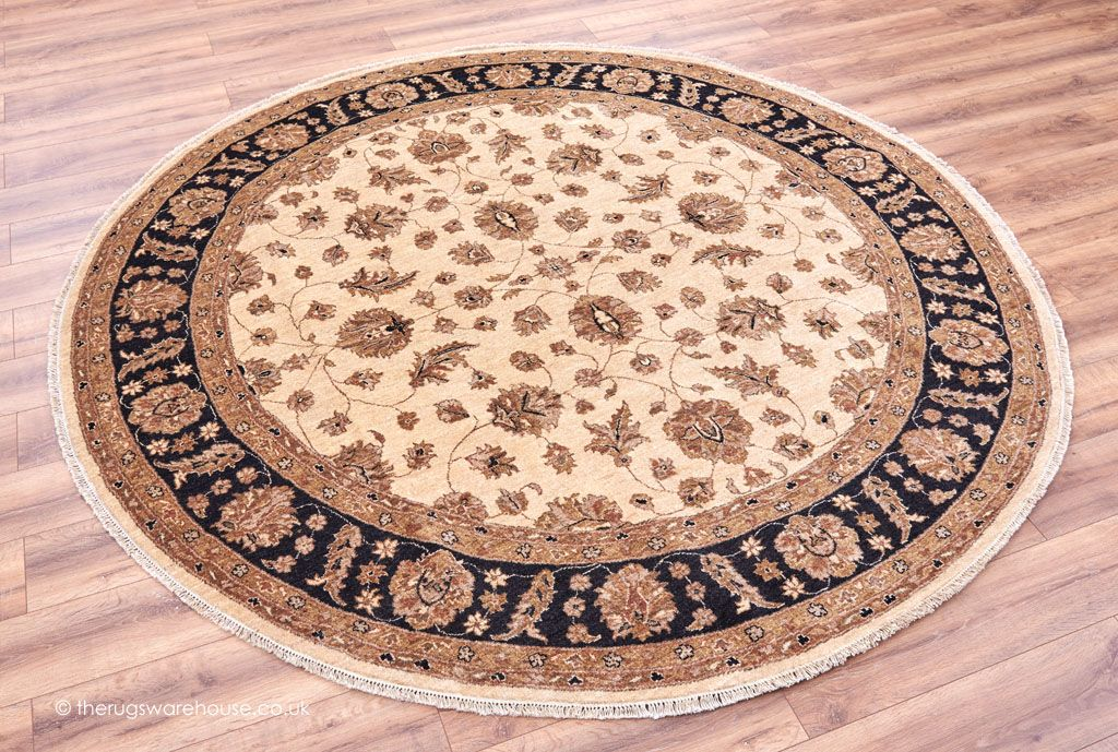 Brown Black Hand Knotted In Afghanistan Http Www Therugswarehouse Co Uk Round Rugs Ziegler Royal Circle 1626 Rug Html