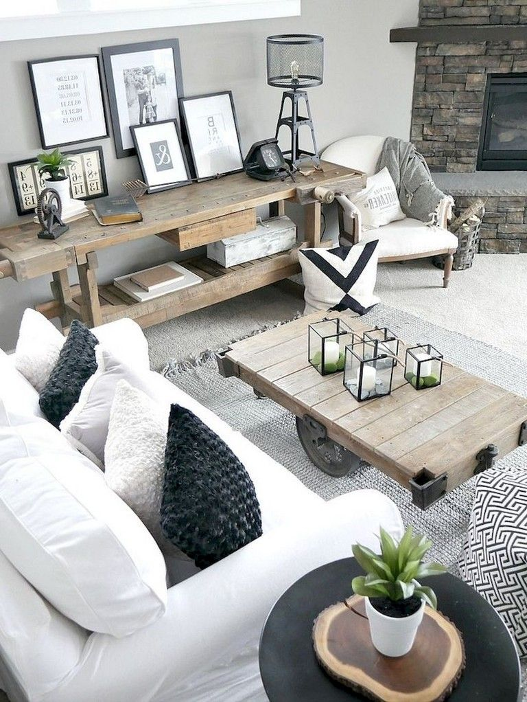 45+ Elegant Rustic Apartment Living Room Decor Ideas Living Rooms - Living Room Ideas For Apartments