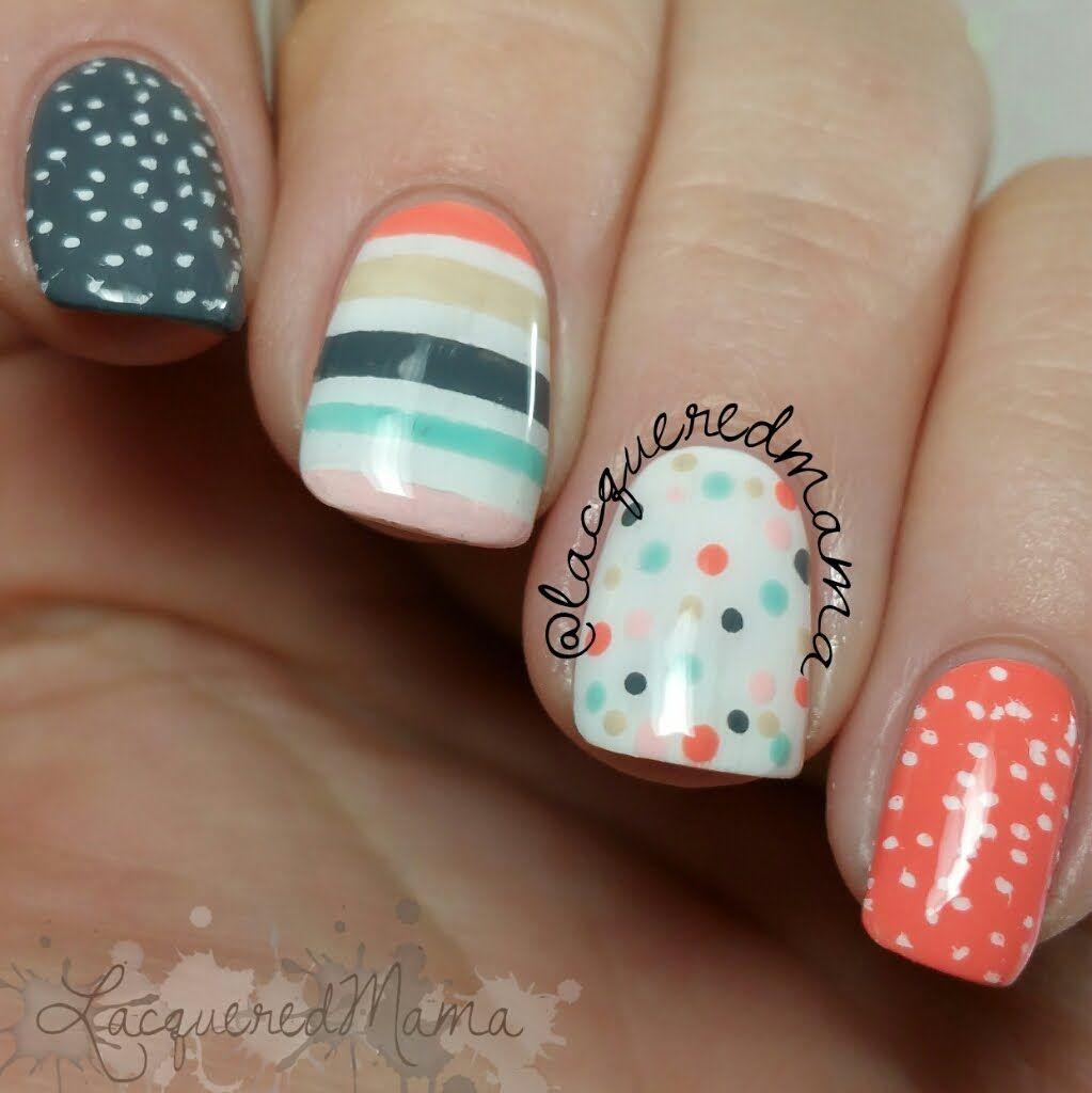 Stripes, Polka Dots & Stamping - Easy Nail Art | Nail It! Community ...