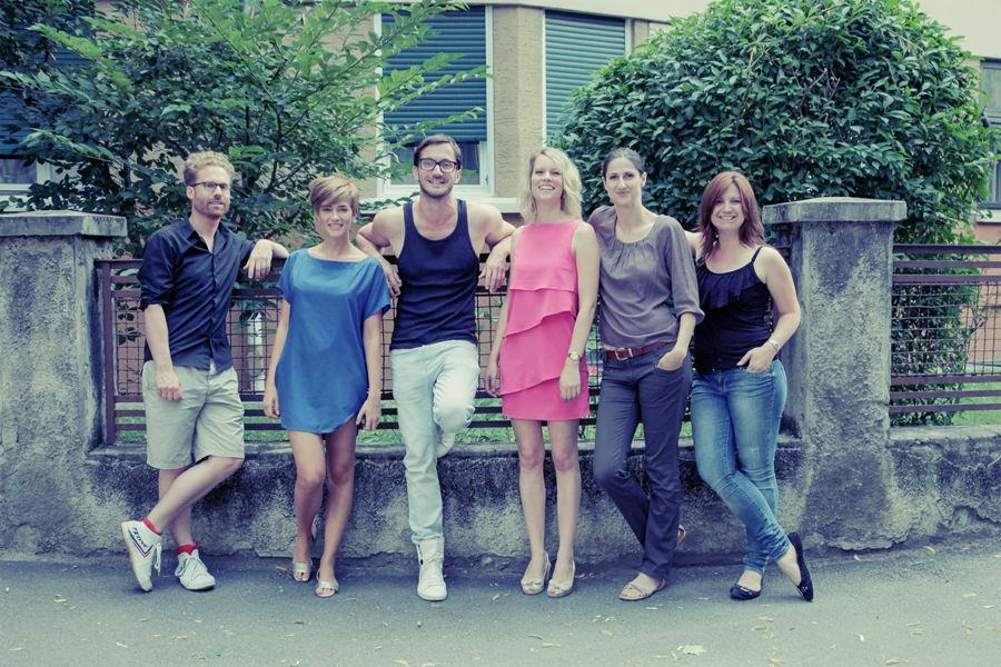 Die Referenten Jan-Peter Wulf (www.nomyblog.de), Mia Bühler (uberding.net), Norman Röhlig (www.i-ref.de), Barbara Schnitzer von der Marketinggesellschaft Meran (MGM) und Stefanie Nienhaus sowie Judith Mader von CrossPR, #meetmerano