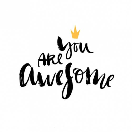YOU ARE AWESOME (With images) Ink lettering, You are