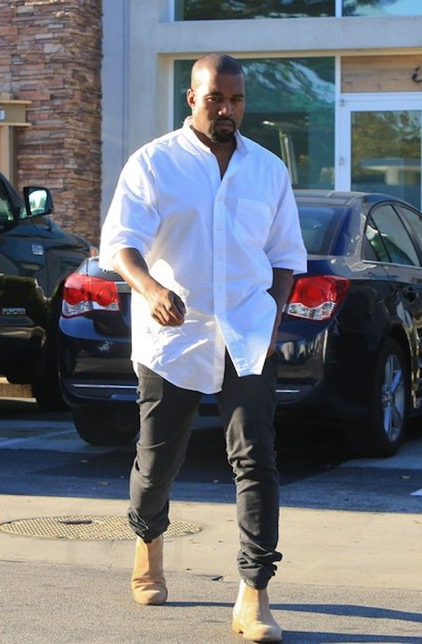 Kanye West stepped in style at Cafe Habana in Malibu.