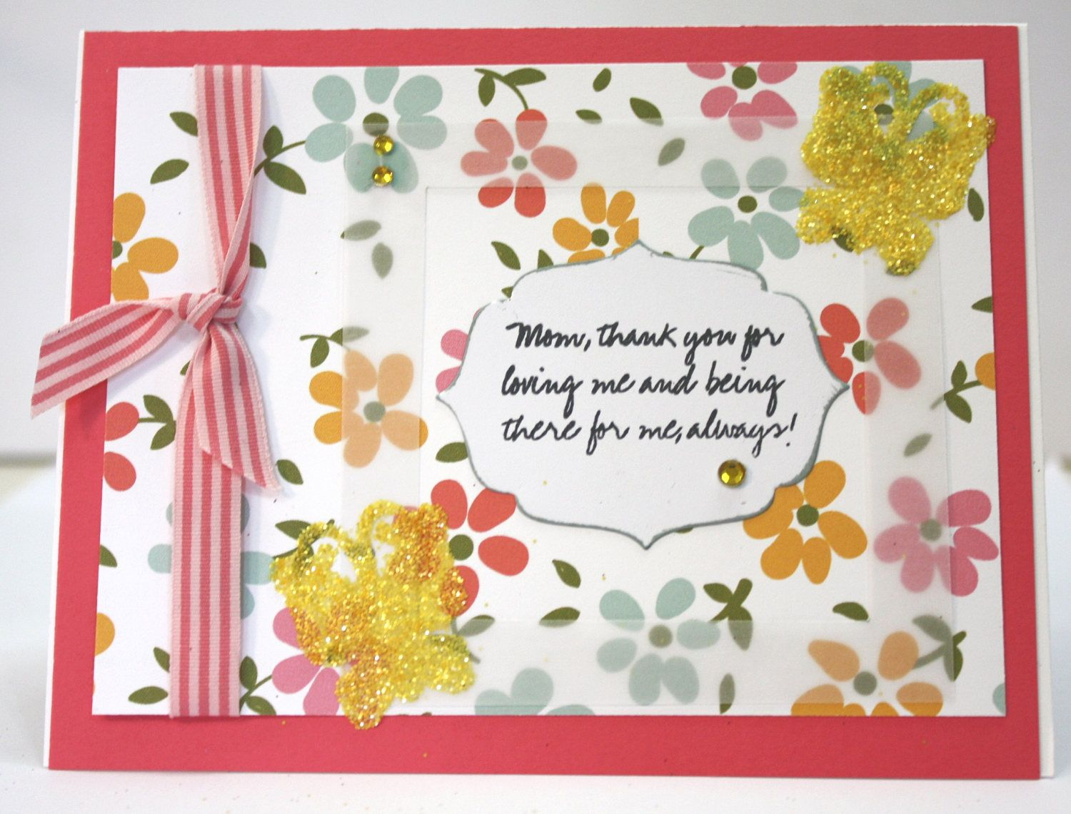 elegant fun mother's day flower butterfly card sentiments