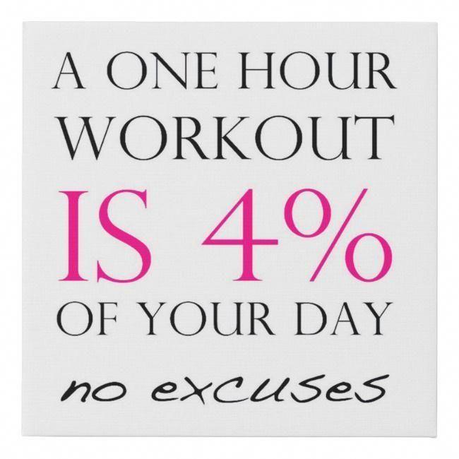 Fitness Motivation Faux Canvas Print   Zazzle.com
