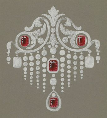 Dessin du0027une broche pour la maison Bolin, vers 1900 Jewelry