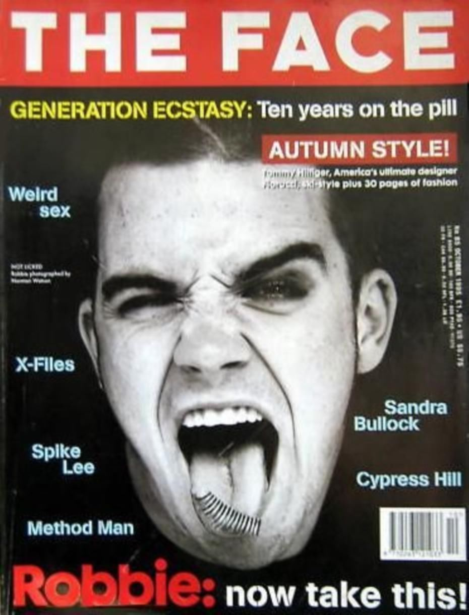 The Face Back Issue Magazine October 1995 Vol 2 85 Robbie Williams Cover