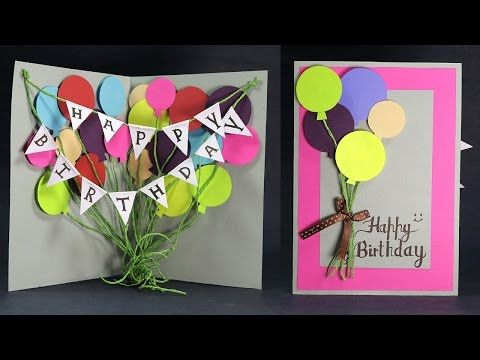 Diy Birthday Card How To Make Balloon Bash Birthday Card Step By