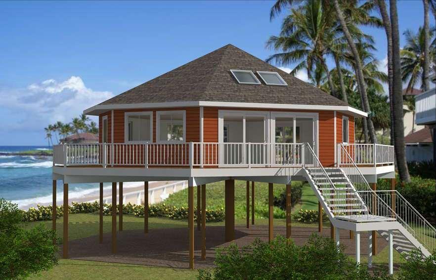 Model Atap Minimalis Multisisi House On Stilts House Roof Design Beach House Plans