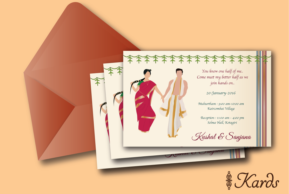Iyer Iyengar Brahmin wedding invitation | Tambrahm Wedding ...
