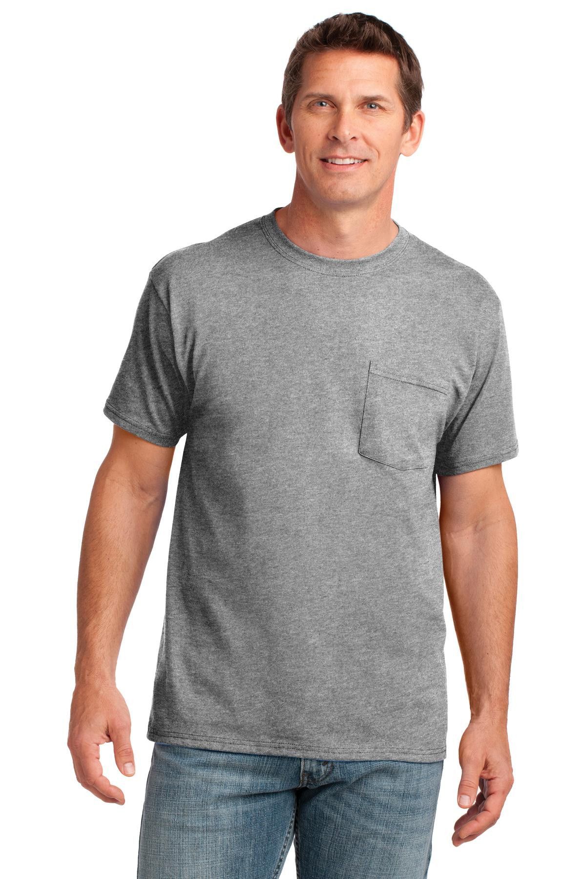 bd9a200f42b5 Port & Company 5.4-oz 100% Cotton V-Neck T-Shirt. PC54V Athletic Heather