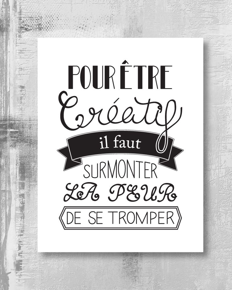Bevorzugt Affiche à imprimer – Citation créative | Citations | Pinterest  PV54