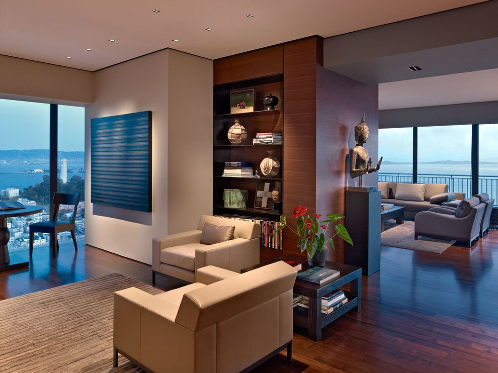 High Rise Apartment Inside luxurious living room in a high-rise apartment with amazing views