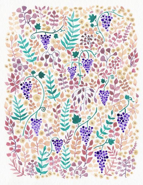 Vineyard / watercolor
