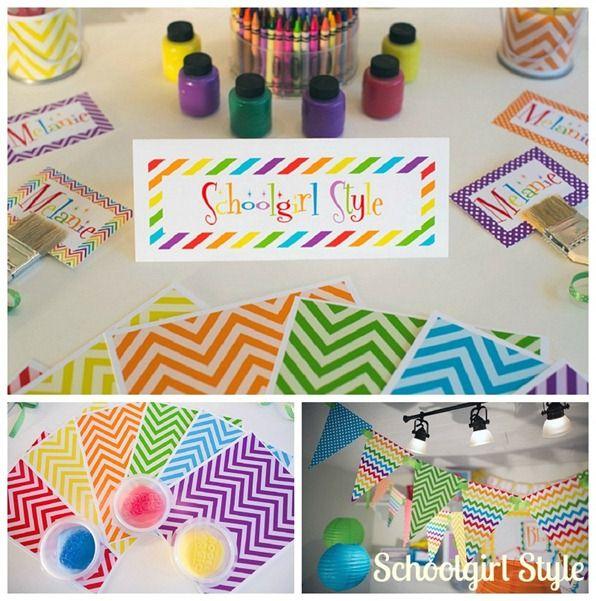 Rainbow Chevron Classroom Decor Theme By Schoolgirl Style